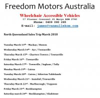 Wheelchair Ramp Accessible Vehicles at Handicap & Disability Shows & Visits - NORTH QUEENSLAND TOUR in MARCH