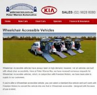 Freedom Motors Australia | Latest News - Wheelchair Accessible Vehicle Conversions - Freedom Motors Australia and Peter Warren Kia are working together to bring you the best Wheelchair