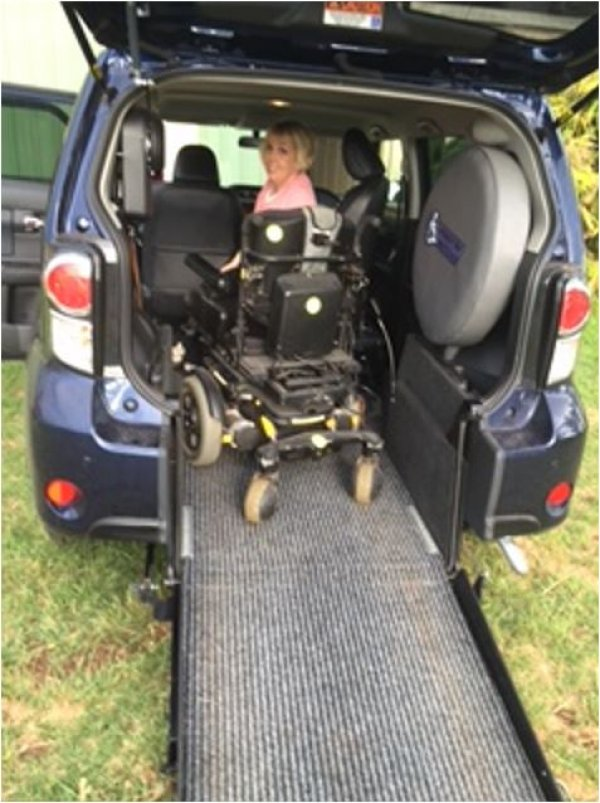 Freedom Motors Australia | Customer Testimonials - Wheelchair Accessible Vehicle Conversions - ../../dc/testimonials/Katharine_Butcher_1.jpg