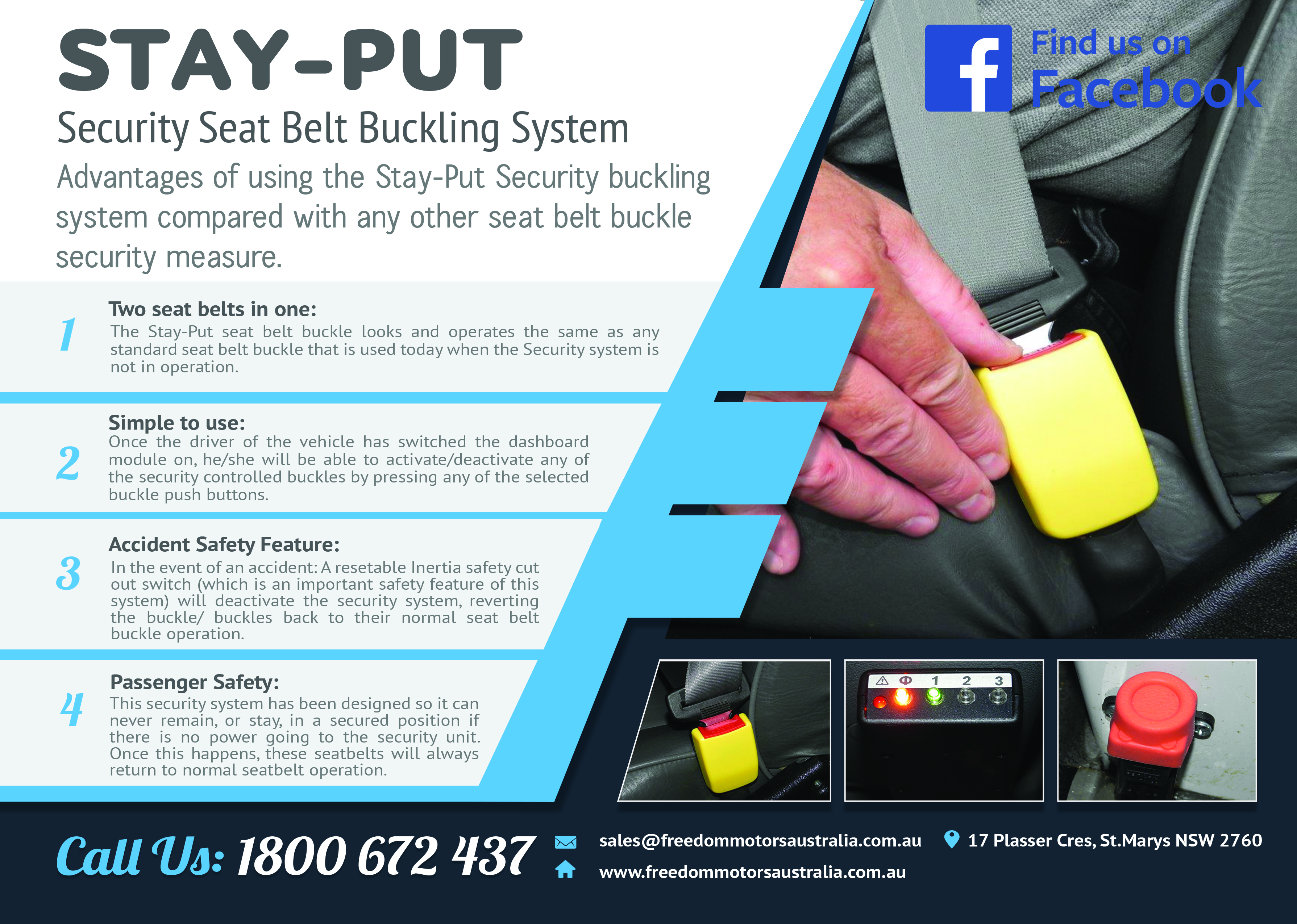 Access Vehicles Australia specialise in Handicap Vans, Disability Buses, Wheelchair Access Vehicle Conversions | STAY-PUT Security Seat Belt Buckling System - ../../dc/products/STAY_PUT_Security_Seat_Belt_Buckling_System.jpg