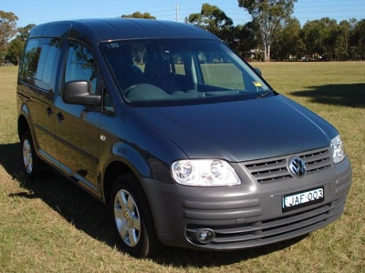 VW Caddy Range wheelchair vehicle - Front view