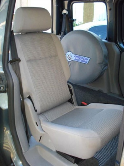 VW Caddy Range wheelchair vehicle - Rear seat view