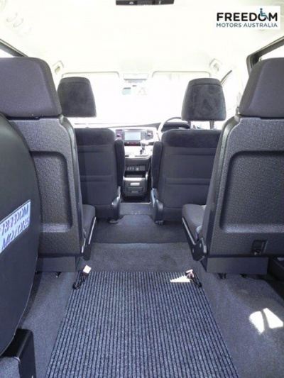 Honda Odyssey wheelchair vehicle - Rear wheelchair space and seating interior view