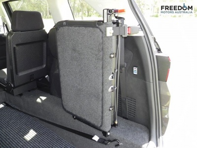 Honda Odyssey wheelchair vehicle - Rear interior view with back seat up