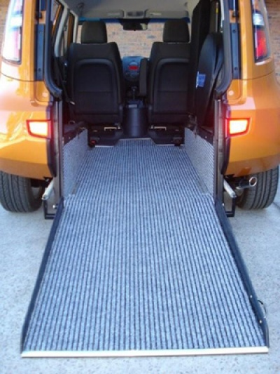 Kia Soul wheelchair vehicle - rear view of wheelchair ramp