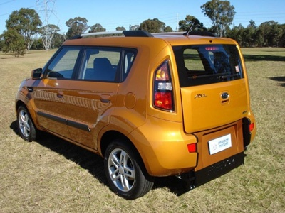 Kia Soul wheelchair vehicle - angled rear view