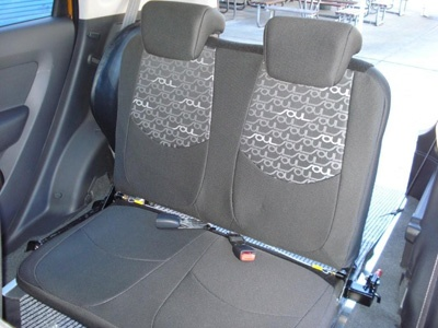 Kia Soul wheelchair vehicle - rear seats