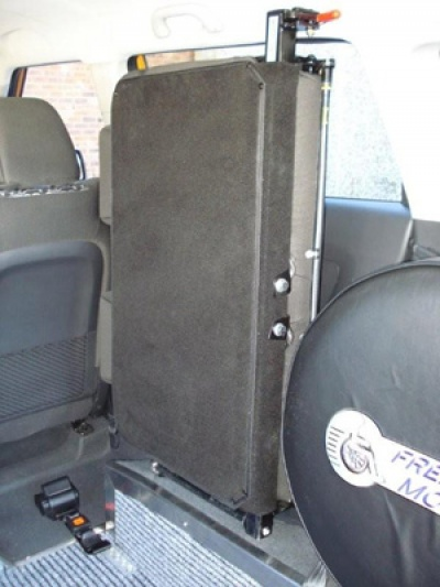Kia Soul wheelchair vehicle - rear seat folded