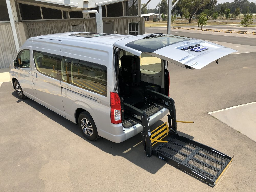 Toyota Hiace Commuter wheelchair accessible vehicle conversion