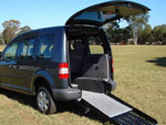 Volkswagen Caddy wheelchair access vehicle - Rear access & wheelchair ramp view