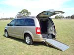 Chrysler Grand Voyager wheelchair vehicle - rear view ramp