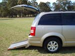 Chrysler Grand Voyager wheelchair vehicle - side view close up
