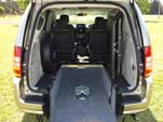 Chrysler Grand Voyager wheelchair vehicle - rear view interior close up