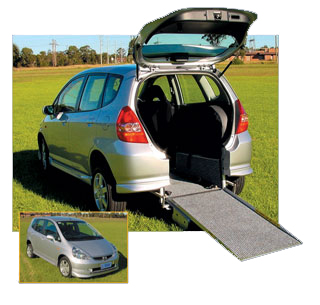 The Honda Jazz Freedom Van wheelchair accessible vehicle conversion