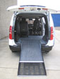 Hyundai iLoad wheelchair access vehicle - Open rear & wheelchair ramp view
