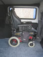 Hyundai iLoad wheelchair access vehicle - Interior wheelchair in place view