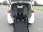 Kia Carnival wheelchair access vehicle - Folded rear seat