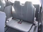 Front view of rear fold down seat