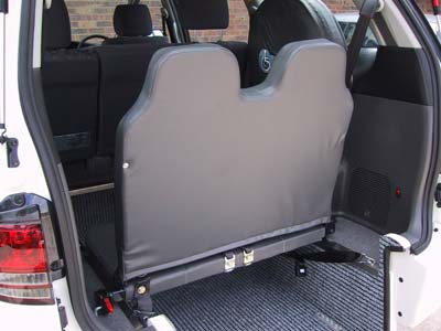 designed to seat an extra 2 persons or have wheelchair access