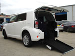 Toyota Rukus wheelchair access vehicle - rear angled view