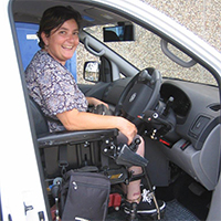 Freedom Self Drive Wheelchair access Modifications gallery - Freedom-Happy-(Drive-from-Wheelchair)-Customer