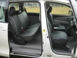 Toyota Tarago wheelchair access vehicle - Side doors open & interior view