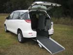 Toyota Tarago wheelchair access vehicle - Rear open view